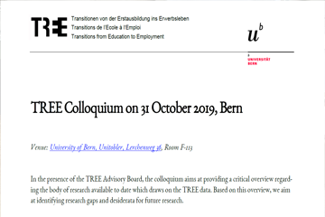 Public TREE Colloquium in Bern 31. Oktober 2019